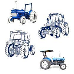 ford  holland   cylinder tractor illustrated parts