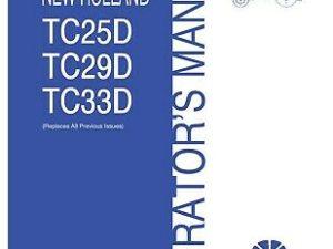 New Holland TC25D TC29D TC33D Tractor Operator Manual
