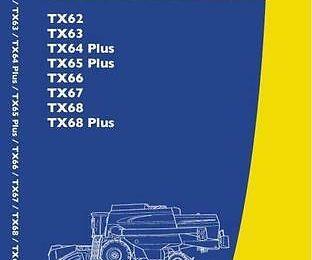 New Holland Tx62 63 64 65 66 67 Operator's Manual