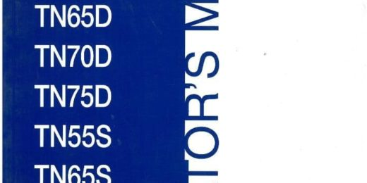 New Holland Tn65s Tn70d Tn70s Tn75d Tn75s Tractor Operators Manual