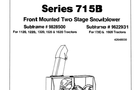 Ford NEW HOLLAND 715B Tractors Operator & Maintenance Manual